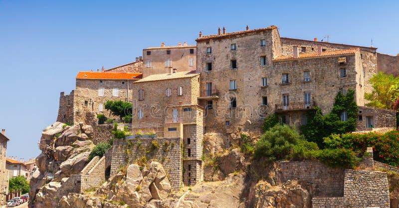 Stary grodzki Sartene, Południowy Corsica, Francja obraz stock