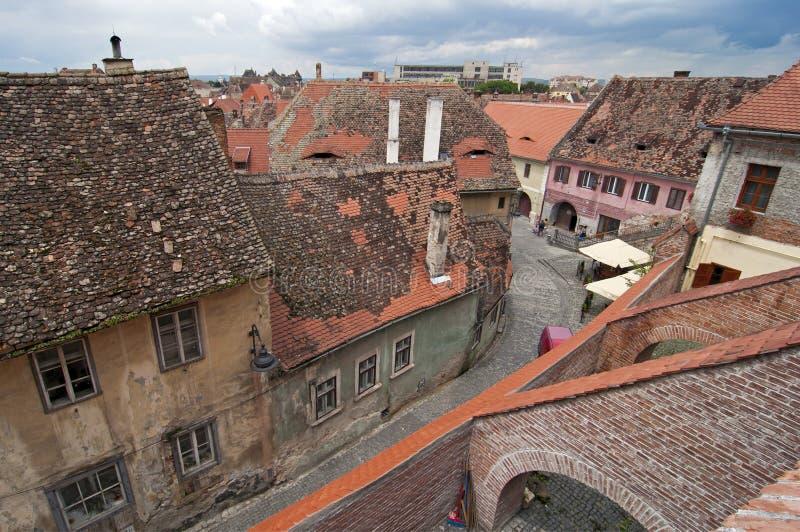 Download Stary grodzki Sibiu obraz stock. Obraz złożonej z cegła - 28968543