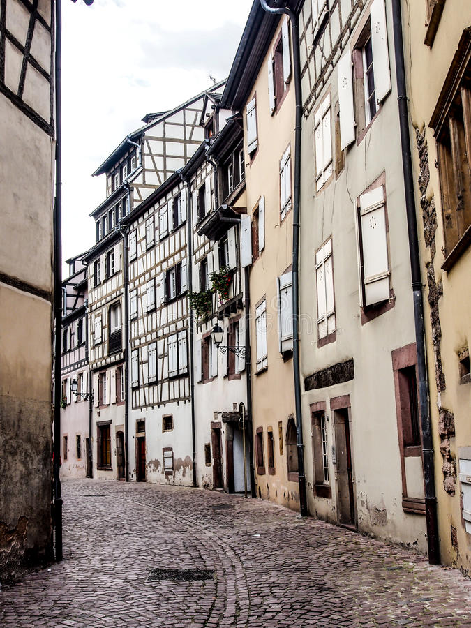 Stary grodzki teren w Colmar, Alsace, Francja obraz royalty free