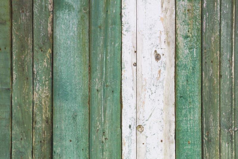 Stary, grunge drewniani panel malujący w turkusowym kolorze używać jako tło obraz royalty free