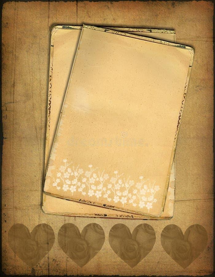 stary grunge papier royalty ilustracja