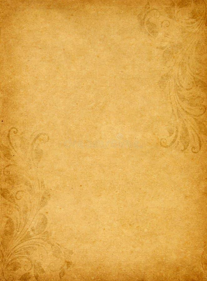 Stary grunge papier z rocznika wiktoriański stylem fotografia stock