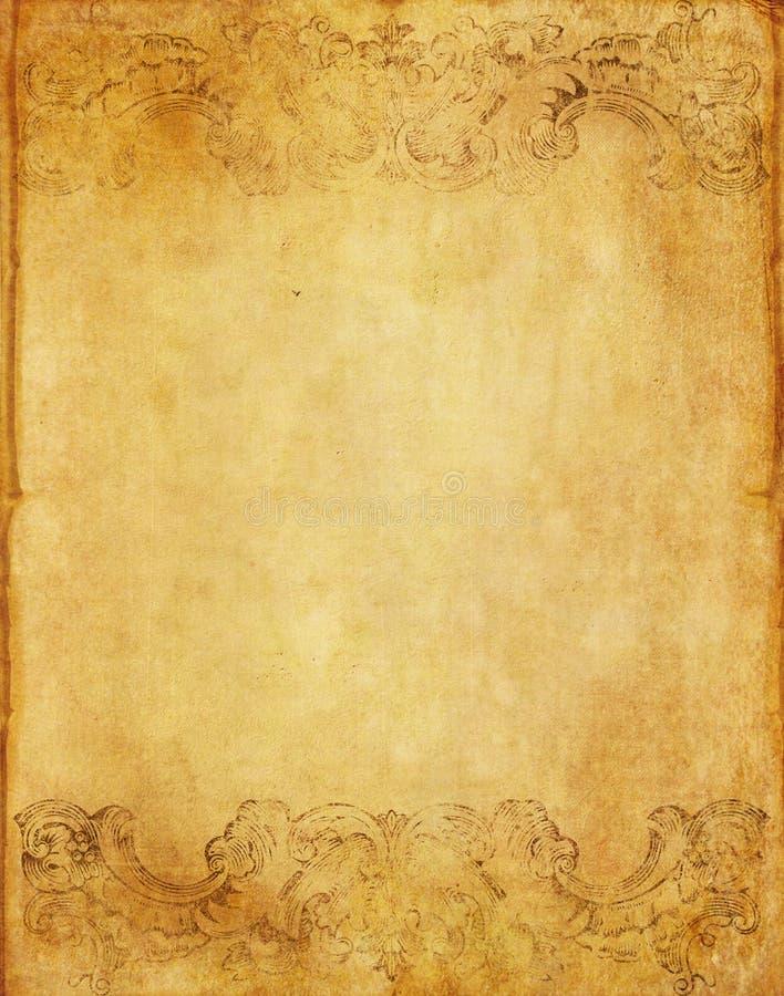 Stary grunge papieru tło z rocznika stylem zdjęcia stock