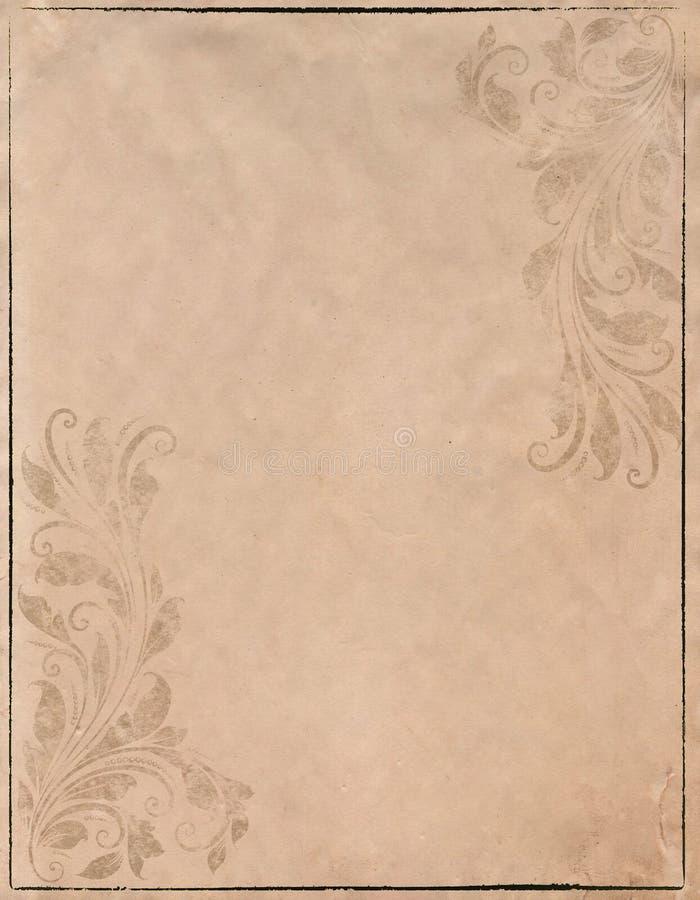 Stary grunge papieru tło z rocznika stylem obraz royalty free