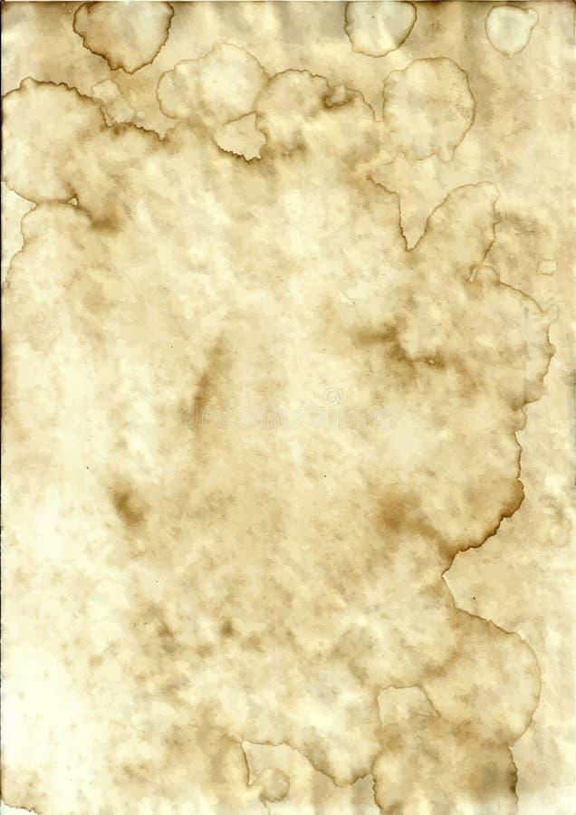 Stary grunge plamiący papier royalty ilustracja