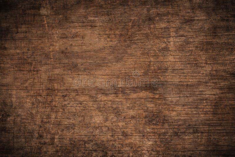 Stary grunge zmrok textured drewnianego tło powierzchnia stara brown drewniana tekstura, odgórnego widoku brązu drewniany kaseton
