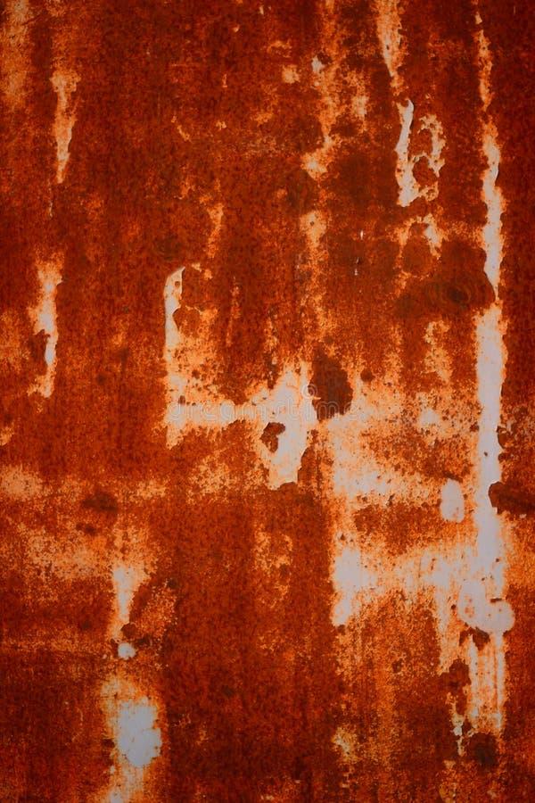 Stary Grungy i Brudny Czerwony ośniedziały metalu prześcieradła tekstury tło zdjęcie royalty free