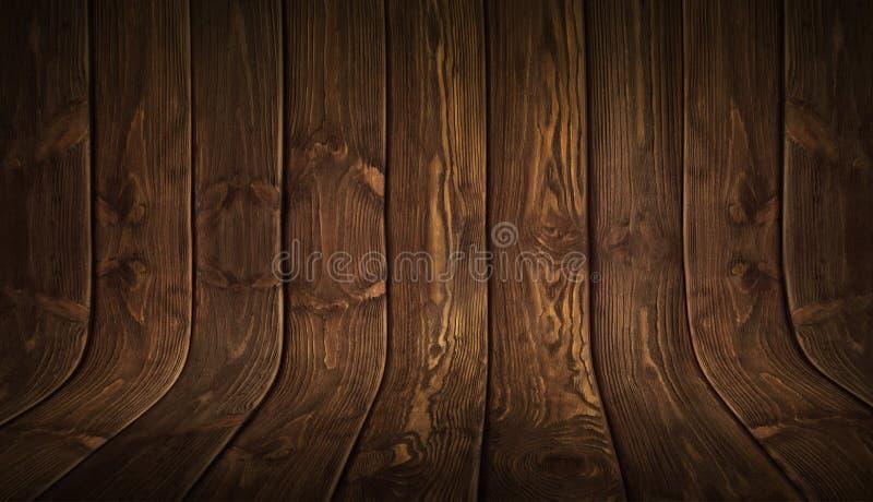 Stary grungy wyginający się drewniany tło zdjęcia stock