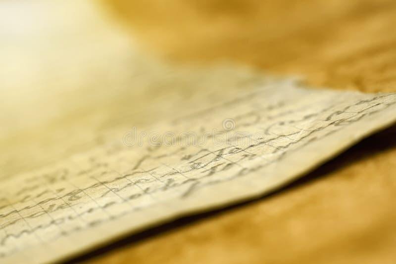 Stary handwriting list zdjęcia stock
