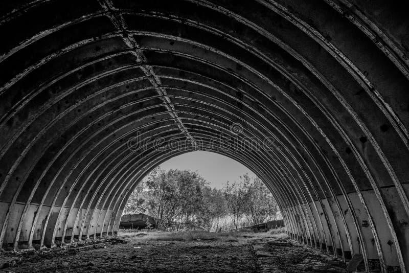 Stary hangar zdjęcia stock
