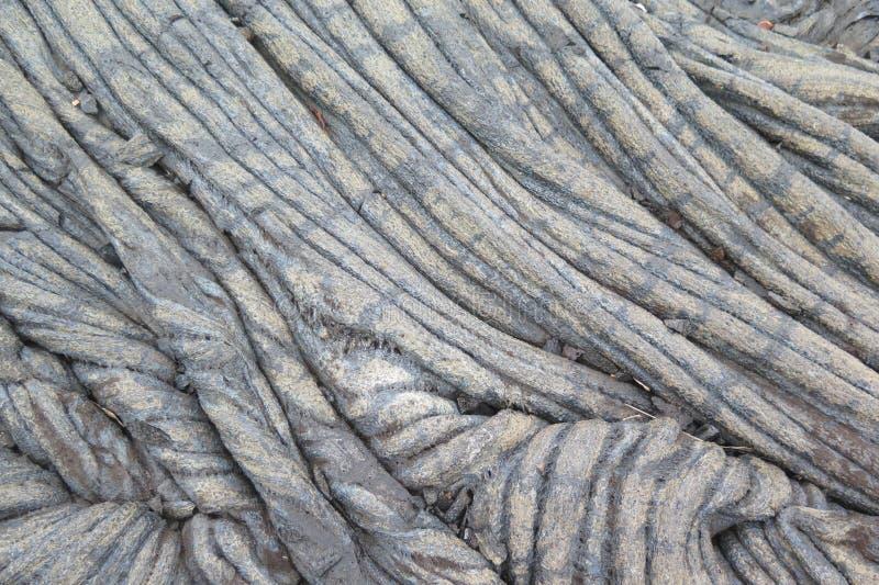 Stary Hawajski Lawowy przepływ od Kilauea wulkanu 2 obrazy royalty free