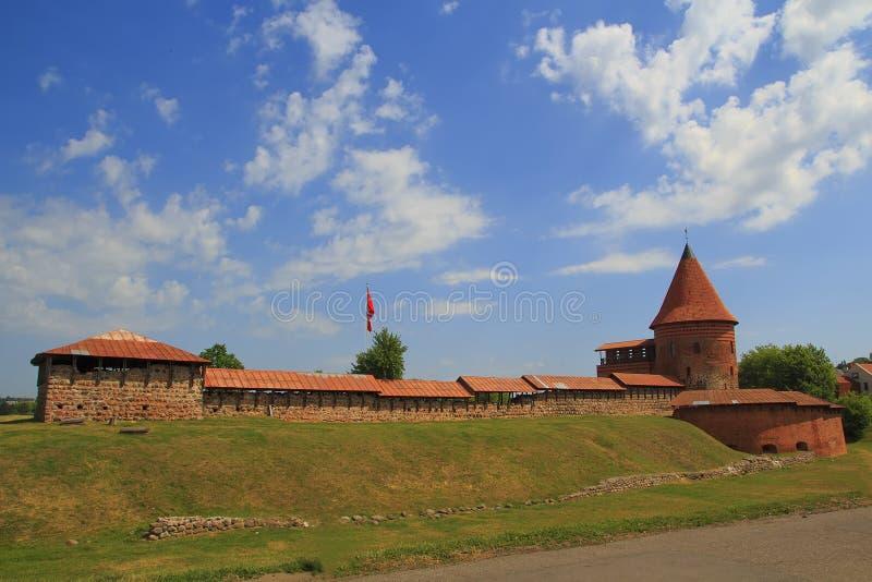Stary historyczny kasztel w Kaunas, czternasty wiek obraz stock