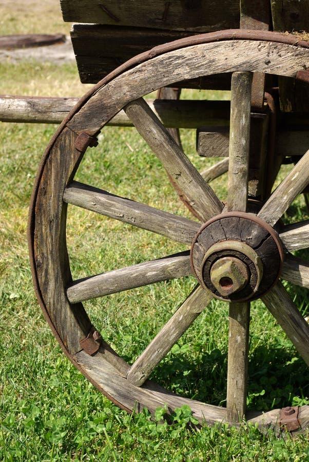 stary horsecart koło drewna zdjęcie royalty free