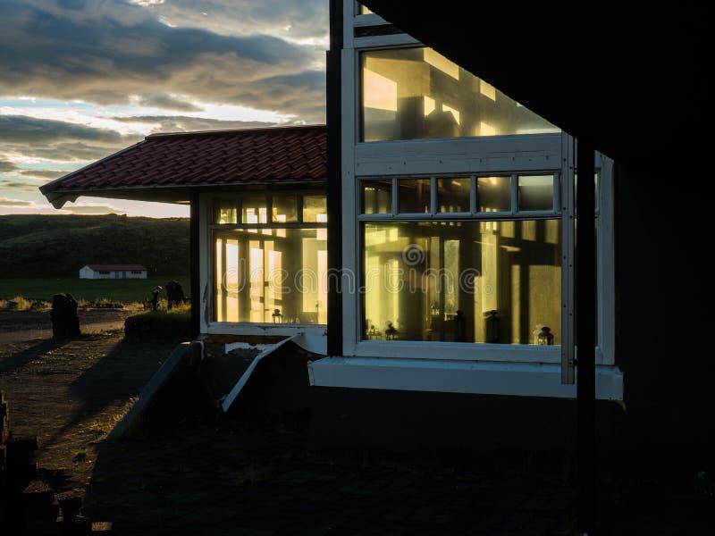 stary hotel Iceland zdjęcie stock