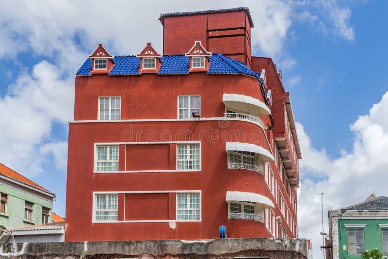 Stary hotel - Punda Curacao widoki fotografia stock