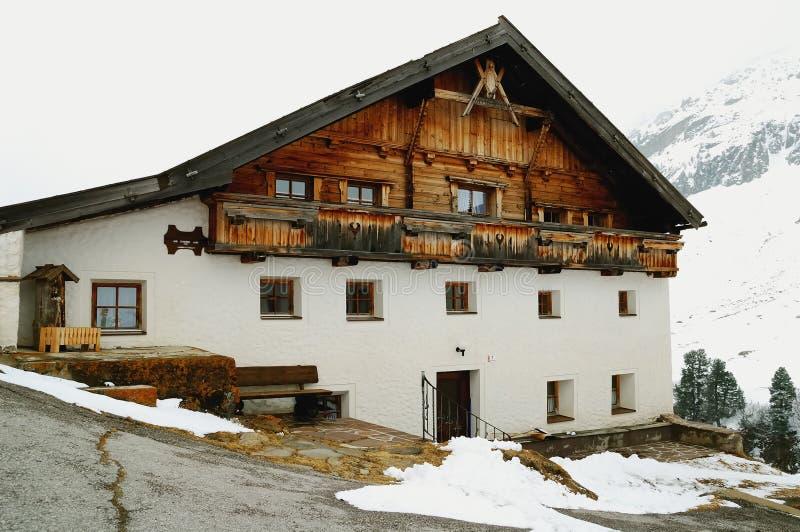 stary hous tradycyjne alpy fotografia stock