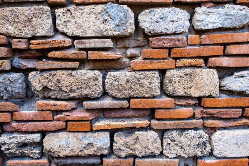 Stary i Antyczny ściana z cegieł Grunge textureed tło zdjęcie stock