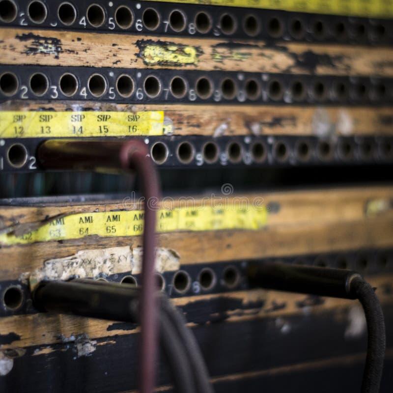 Stary i rocznik telekomunikaci switchboard obraz stock