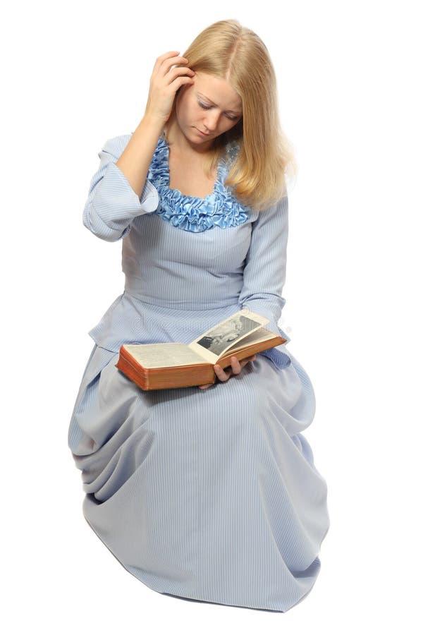 stary ireading książka dziewczyny obraz stock