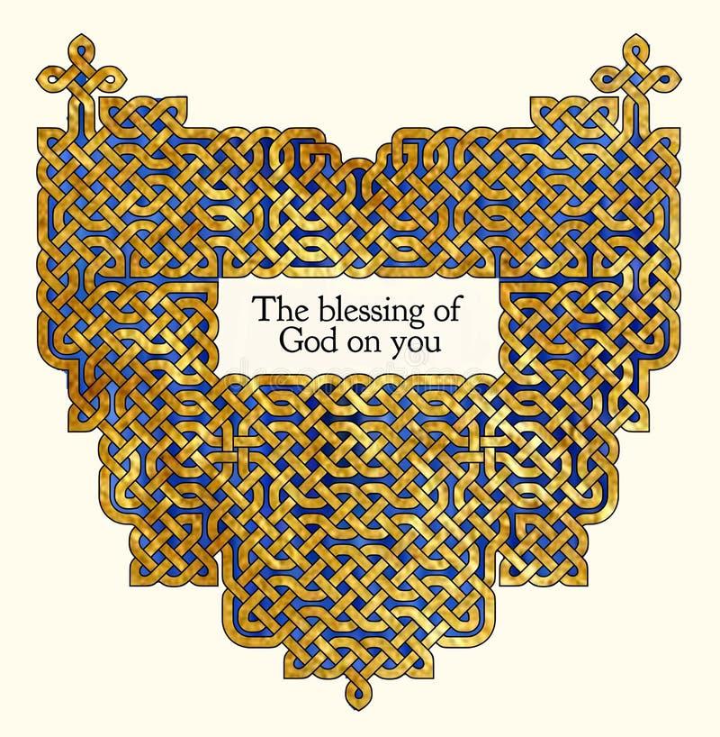 Stary Irlandzki błogosławieństwo royalty ilustracja