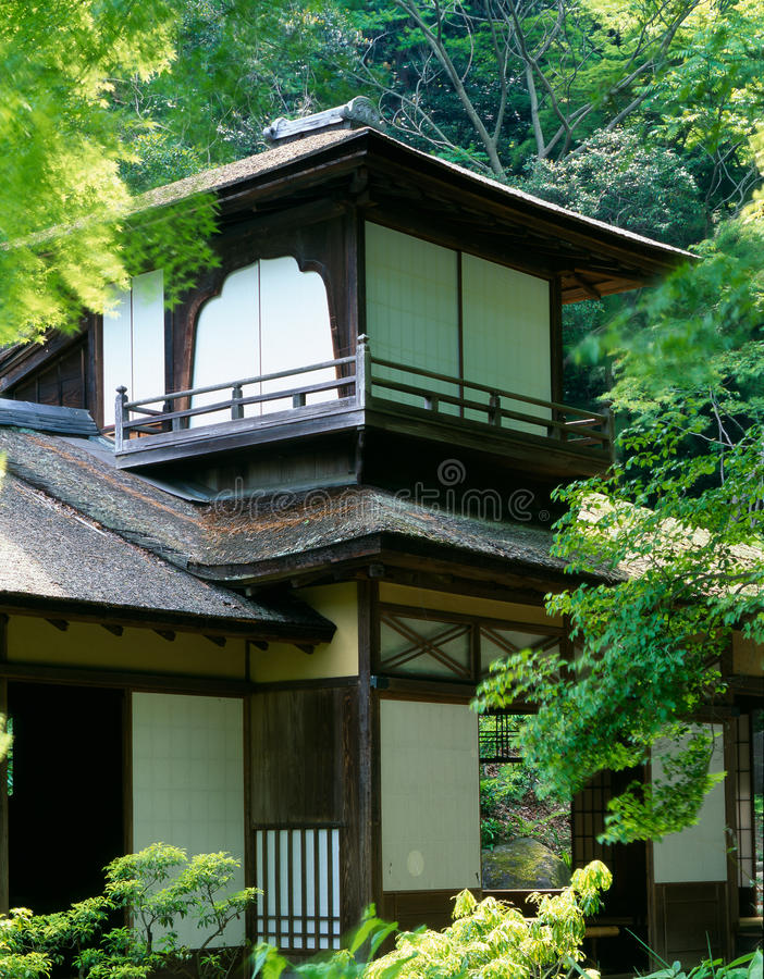 stary japoński dwór zdjęcie royalty free