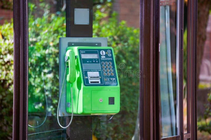 Stary jawny telefon w Japonia zdjęcia royalty free
