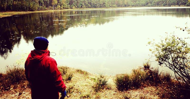 stary jeziora łodzi rybackich obraz stock