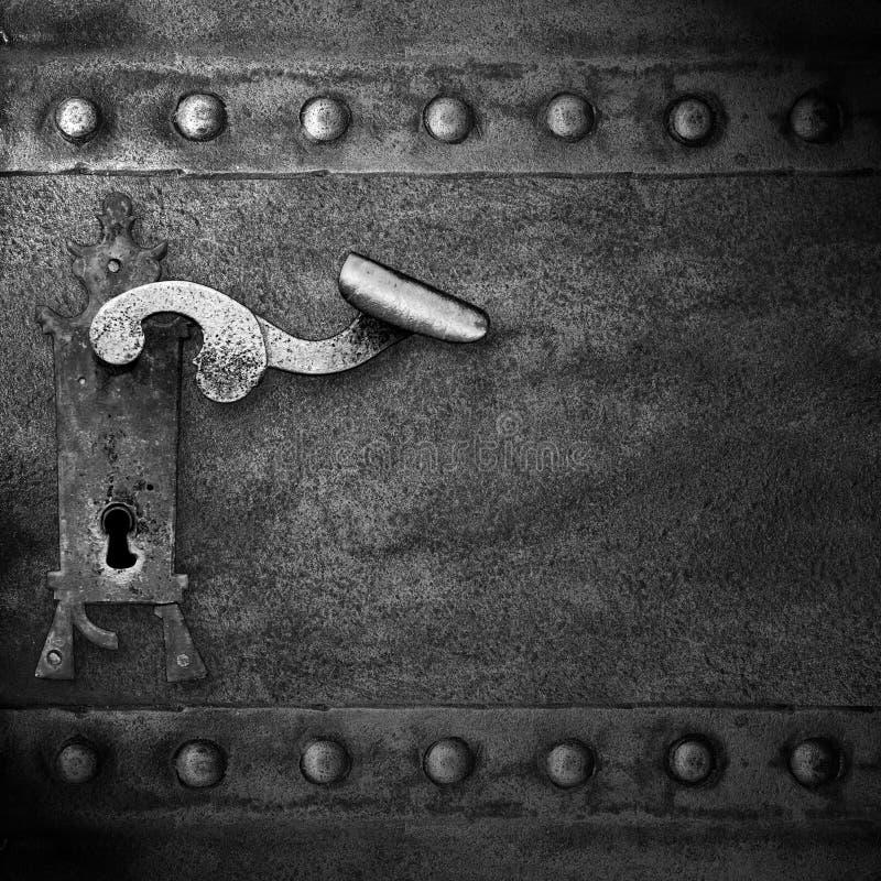 Stary kędziorek z rękojeścią i keyhole obrazy stock
