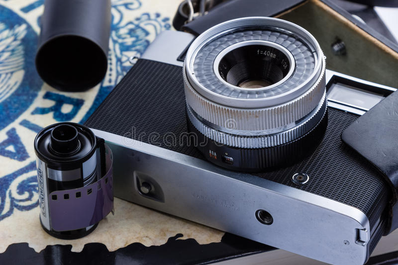 stary kamery rangefinder fotografia royalty free