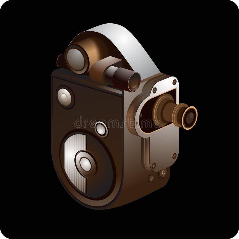 stary kamery wideo royalty ilustracja