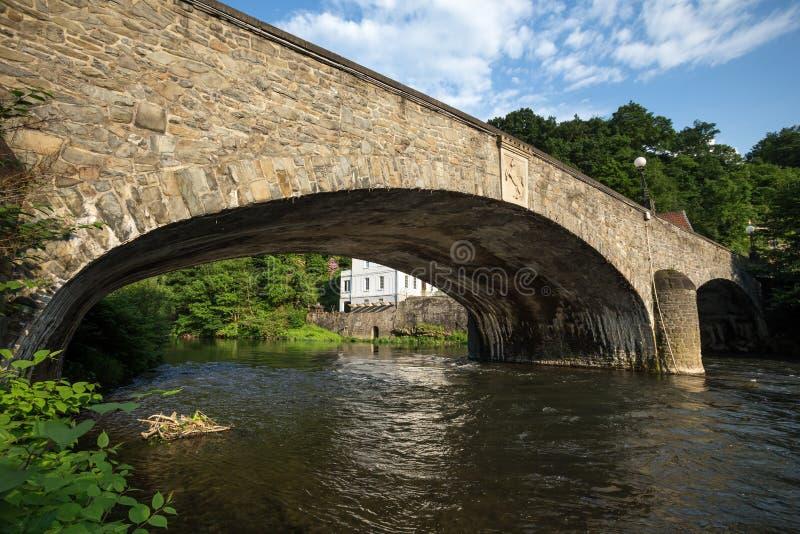 Stary kamienia mosta altena Germany obraz royalty free