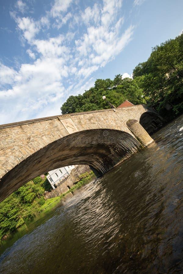 Stary kamienia mosta altena Germany zdjęcie stock