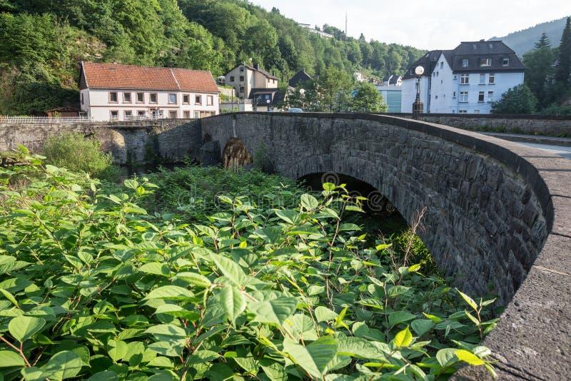 Stary kamienia mosta altena Germany obrazy stock
