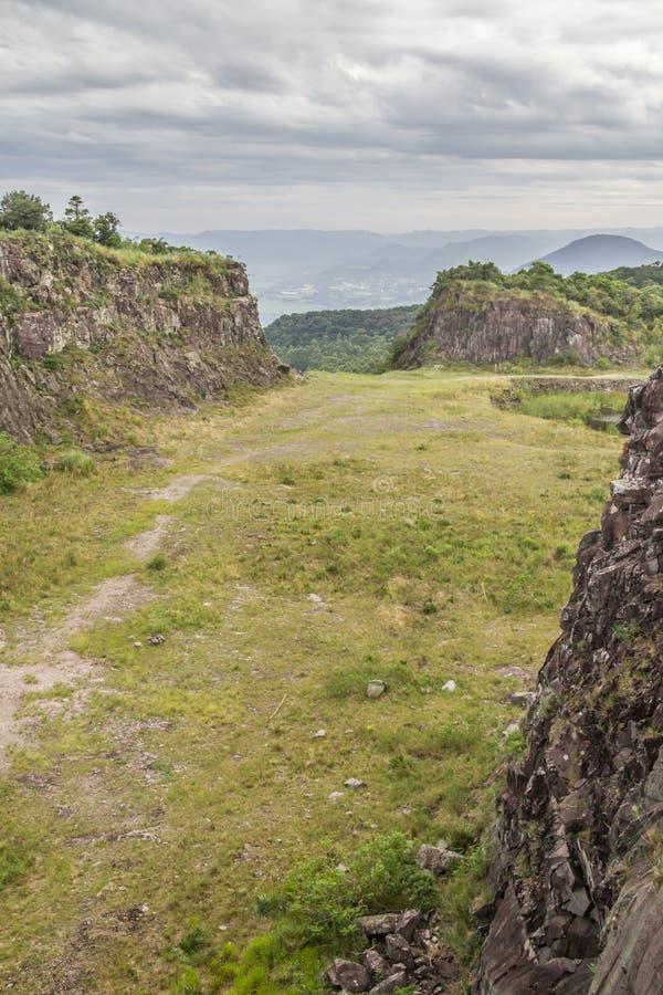 Stary Kamienny łup w Morro robi gauczo góry krajobrazowi obraz royalty free