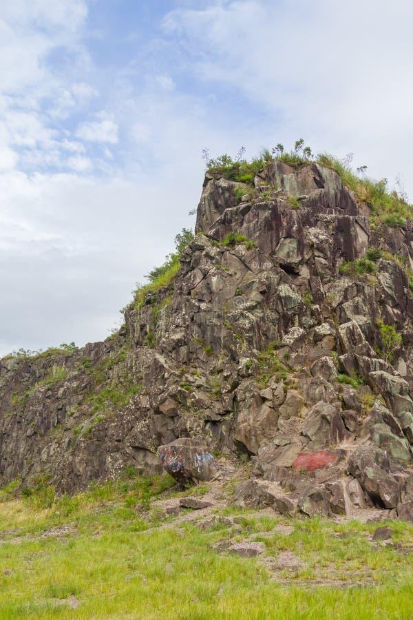 Stary Kamienny łup w Morro robi gauczo góry krajobrazowi zdjęcie royalty free