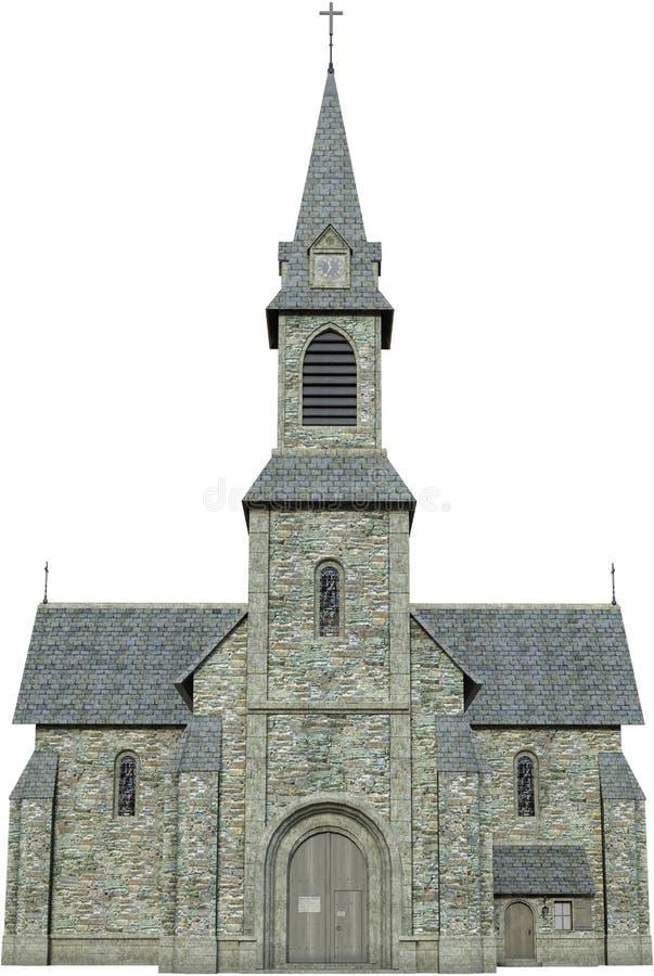Stary Kamienny kościół chrześcijański Odizolowywający fotografia stock
