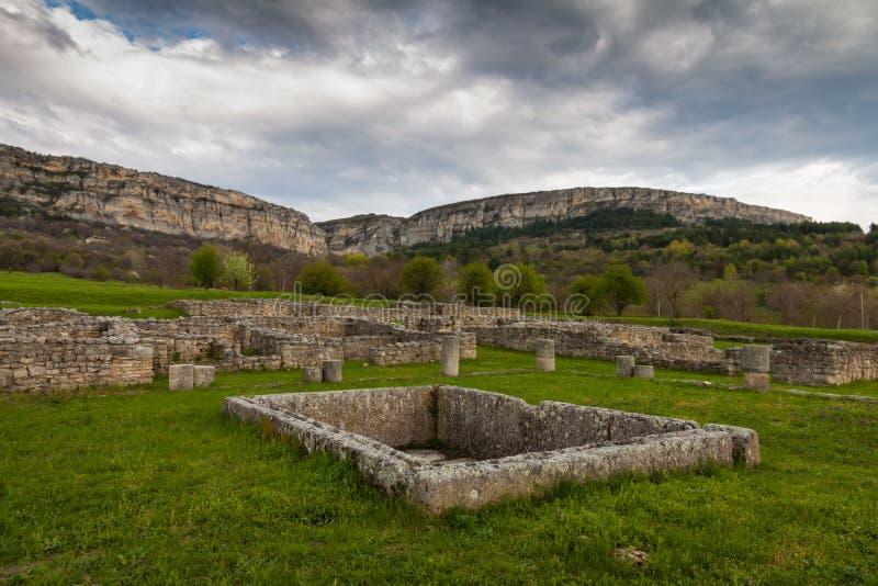 Stary kamienny miasteczko zdjęcie royalty free