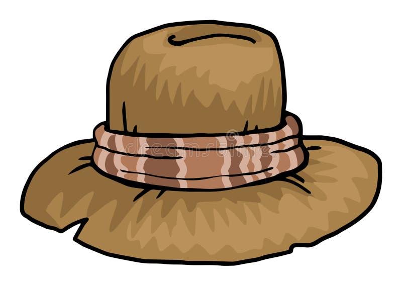 stary kapelusz ilustracja wektor