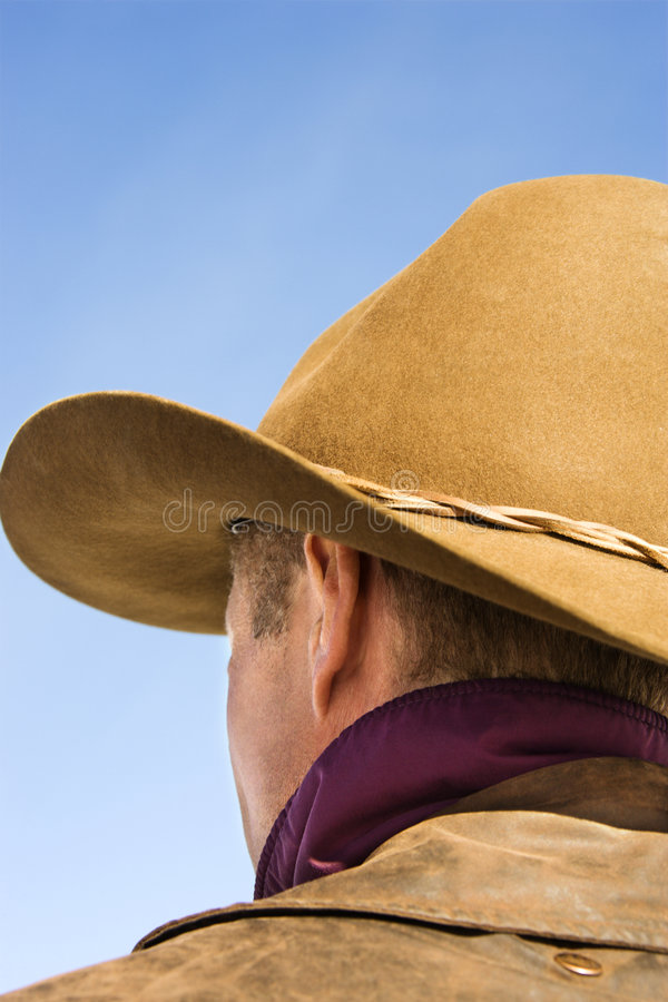 stary kapelusz kowbojski nosić zdjęcie stock