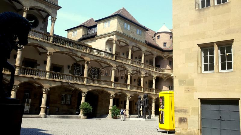 Stary kasztel Stuttgart obrazy royalty free