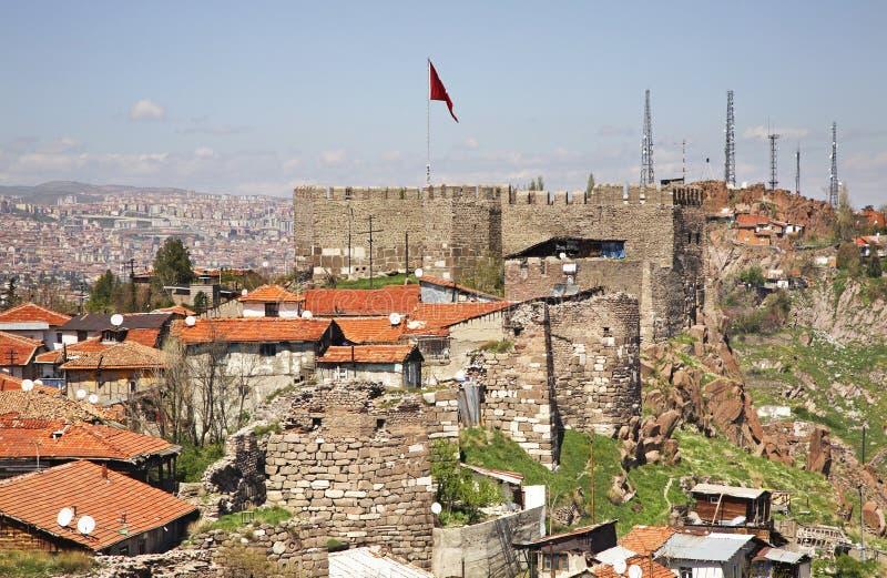 Stary kasztel w Ankara indyk zdjęcia royalty free