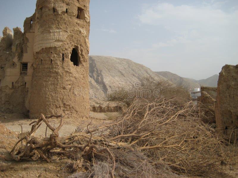 Stary kasztel w sułtanacie Oman obrazy stock