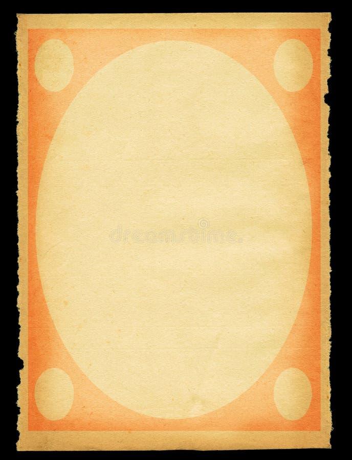 stary kawałek papieru rozdarty. zdjęcia stock