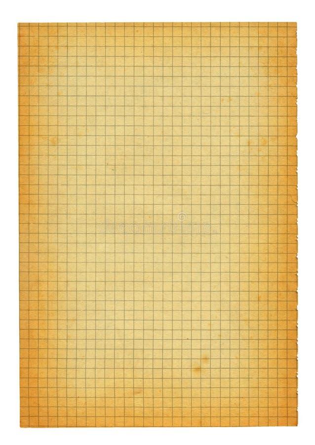 stary kawałek wielkości papieru w kratkę xxl obraz stock