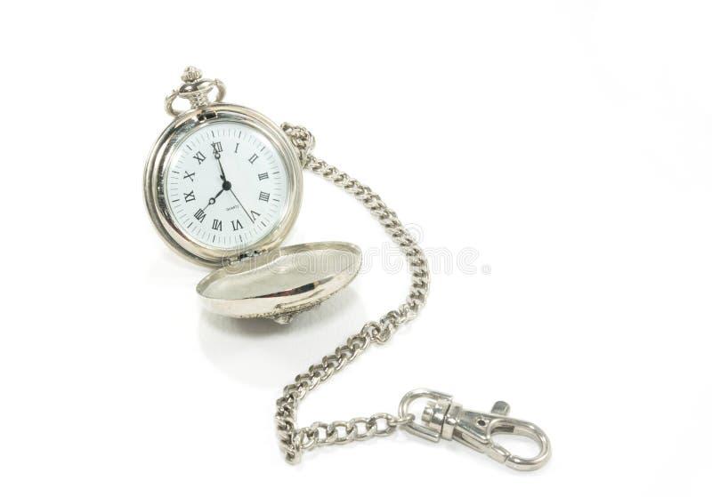 Stary kieszeniowy zegarek z łańcuchem zdjęcie royalty free