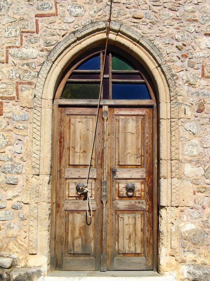 stary klasztor drzwi fotografia stock