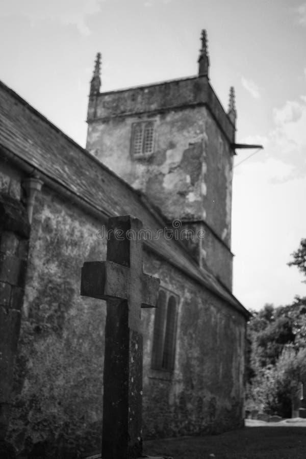 Stary kościół, Holcombe, Somerset obrazy royalty free