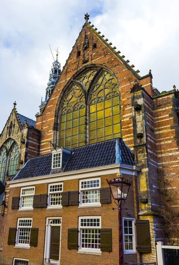 Stary kościół Kerk, Oude lub - stary farny kościół i obraz royalty free