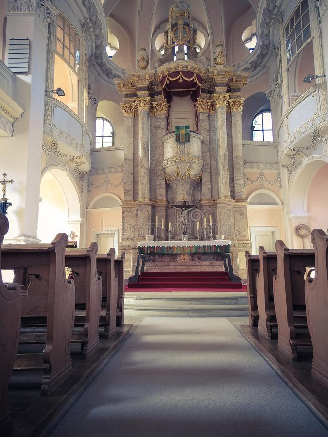 Stary kościół od inside obraz stock