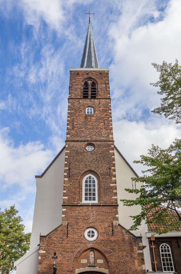 Stary kościół przy dziejowym Begijnhof w Amsterdam obrazy stock